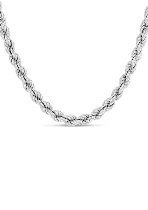 Forever New Sterling Silver 120 Gauge Rope Chain