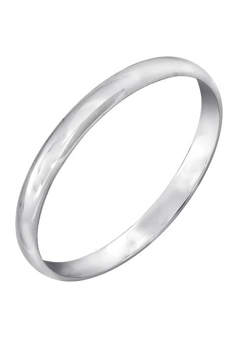 JON BLU 10K White Gold Plain Band Ring