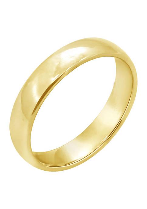 JON BLU 10K Yellow Gold Comfort Fit Plain