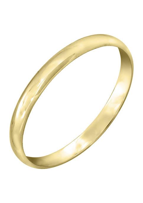JON BLU 14K Yellow Gold Plain Band Ring