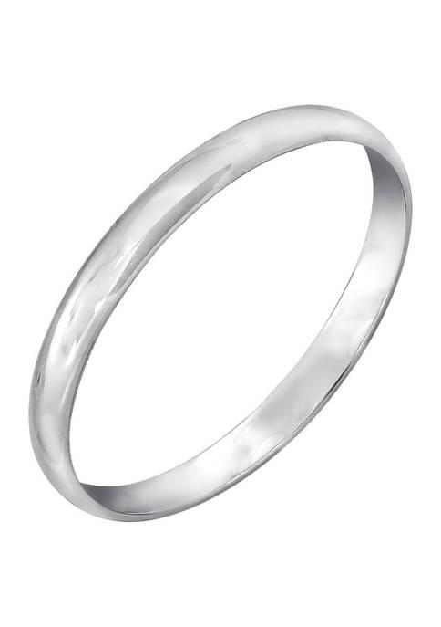 JON BLU 14K White Gold Plain Band Ring