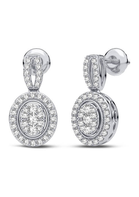 1/3 ct. t.w. Lab Created Diamond Fashion Earrings in 14K White Gold