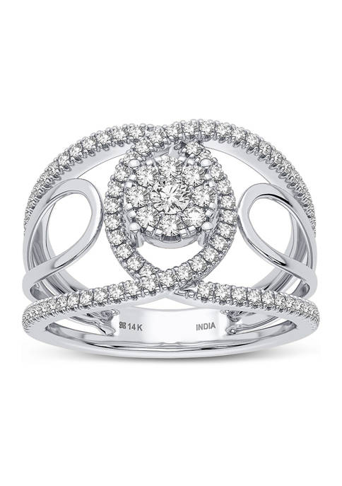 5/8 ct. t.w. Lab Created Diamond Fashion Ring in 14K White Gold
