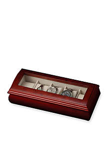 Emery Glass Top Watch Jewelry Box - Online Only