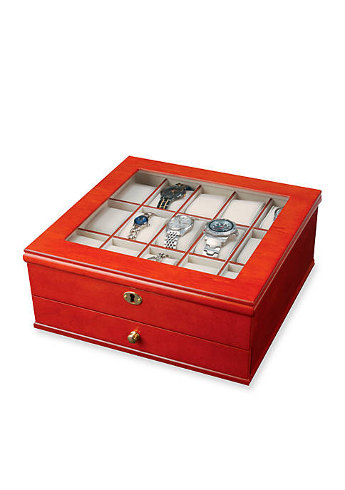 Mele & Co. Chris Locking Watch Jewelry Box