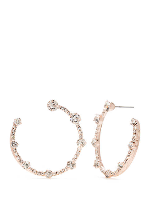 Medium Open C Hoop Earrings