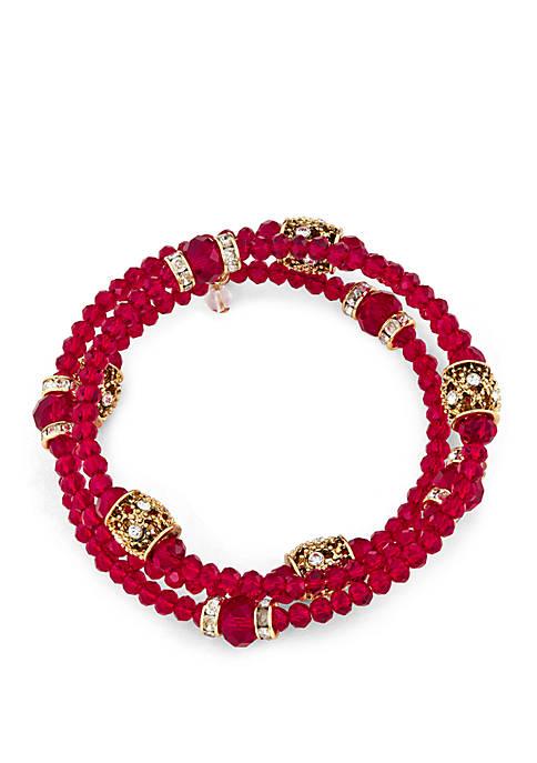 Multi Row Coil Bracelet