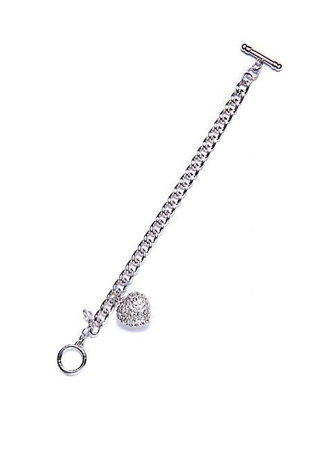Napier Boxed Heart Charm Bracelet