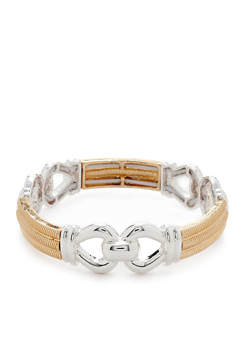 Napier 2 Tone Stretch Bracelet