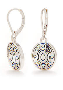 Antiqued Silver-tone Small Drop Earrings