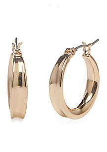 Gold-Tone Oscar Hoop Earrings
