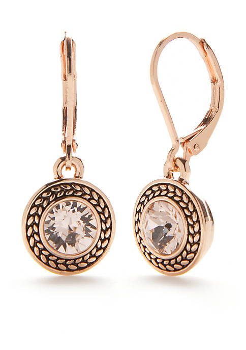Napier Rose Gold-Tone Color Declaration Crystal Swarovski Drop