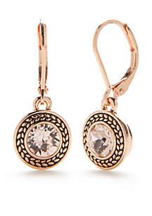 Rose Gold-Tone Color Declaration Crystal Swarovski Drop Earrings