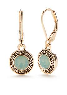 Gold-Tone Color Declaration Pacific Opal Swarovski Drop Earrings