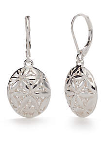 Silver-Tone Point of View Drop Earrings