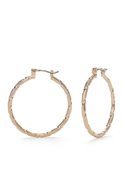 Napier Gold-Tone Hoop Earrings