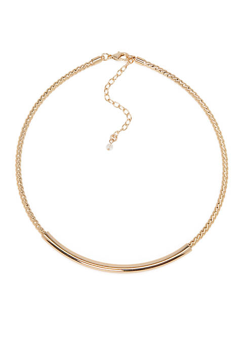 Napier Gold-Tone Twisted Collar Necklace