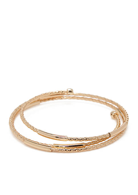 Napier Gold-Tone Twisted Coil Bracelet