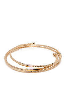 Gold-Tone Twisted Coil Bracelet