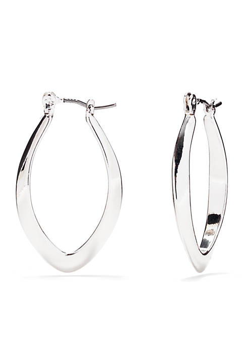 Napier Silver-Tone Endless Weekend Click-it Hoop Earrings