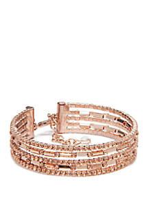 Rose Gold-Tone Coil Flex Bracelet
