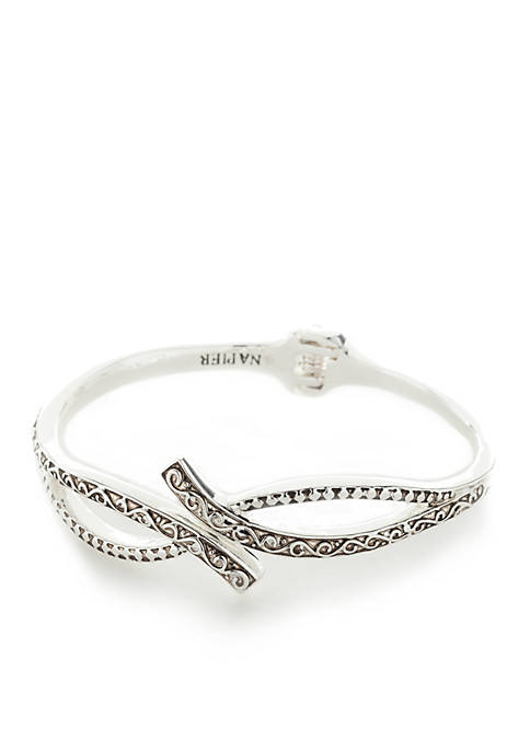 Napier Silver-Tone Refined Layered Cuff Bracelet