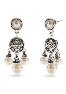 Chandelier Antique Pearl Earrings