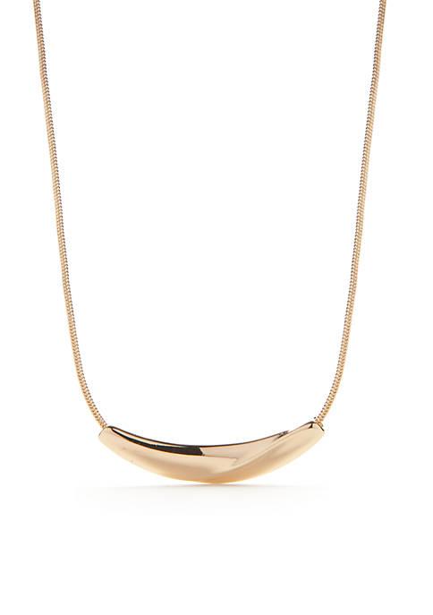 Napier Small Bar Frontal Necklace