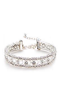 Silver-Tone Coli Crystal Bracelet