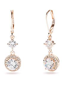 Swarovski® Drop Leverback Silver Crystal Earrings