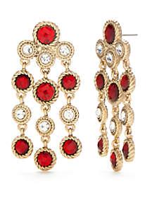 Gold-Tone Chandelier Earrings