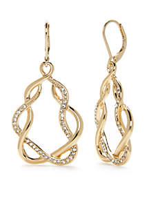 Large Gold-Tone Chandelier Drop Earrings