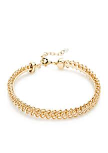 Gold-Tone Coil Bangle Bracelet