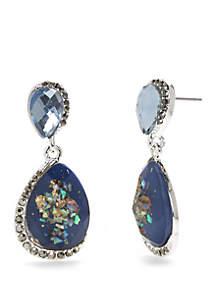 Silver-Tone Double Drop Earrings