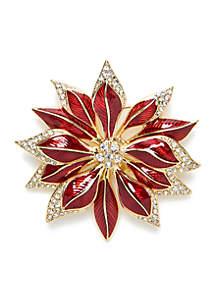Napier Gold-Tone Poinsettia Pin