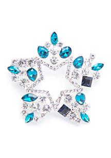 Napier Silver-Tone Crystal Star Pin