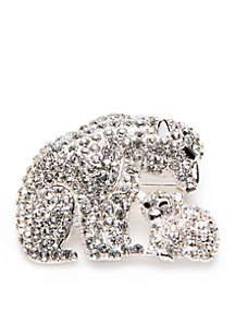 Silver-Tone Polar Bear Pin