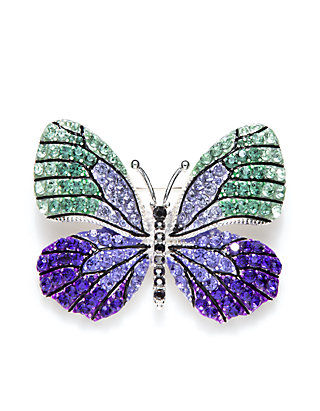 Crystal Butterfly Family Hair Accessory in Silvertone