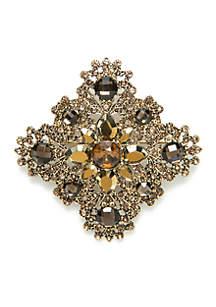 Gold-Tone Multi-Stone Pin
