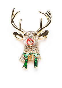 Gold-Tone Rudolf Boxed Pin