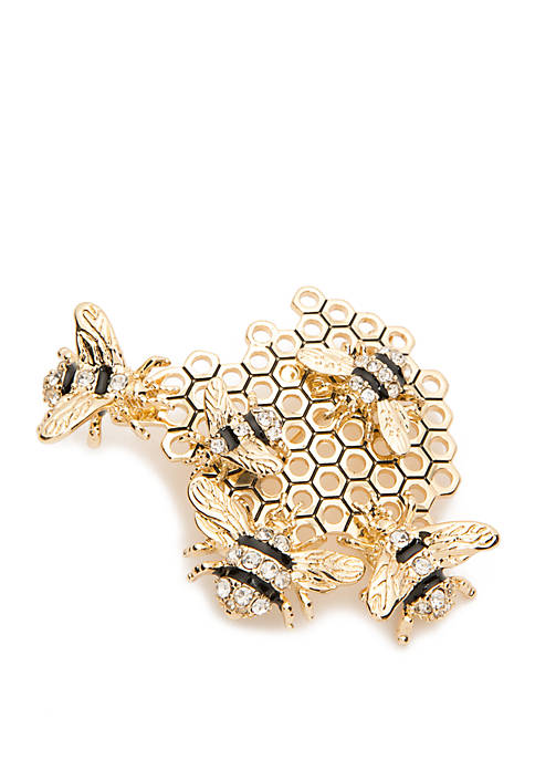 Boxed Bee Cluster Pin
