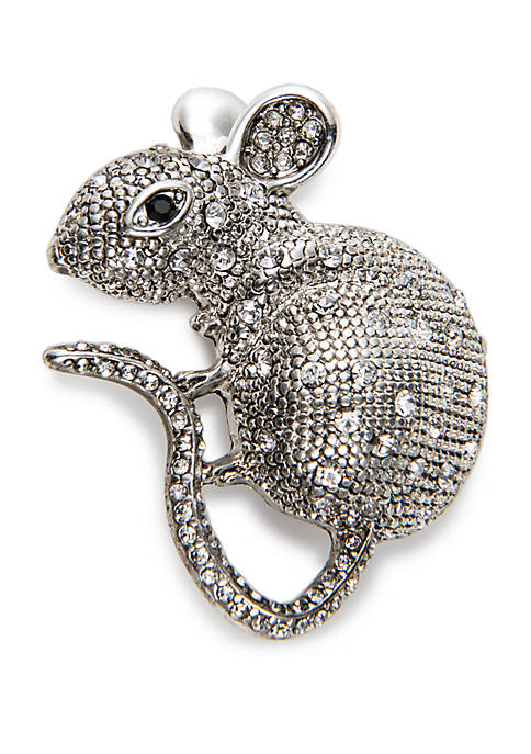 Napier Boxed Silver-Tone Mouse Pin