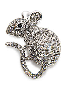 Boxed Silver-Tone Mouse Pin
