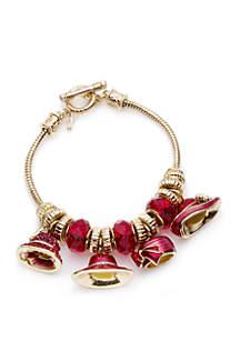 Boxed Hat Society Gold-Tone Slider Bracelet