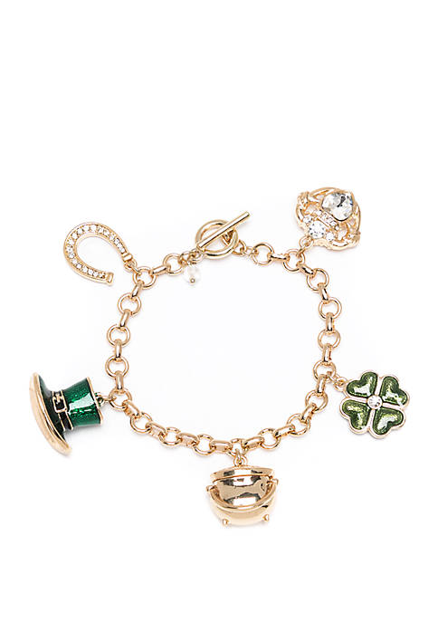 Boxed Pattys Day Charm Bracelet
