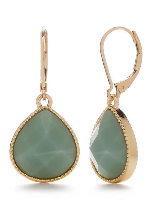 Gold Tone Teardrop Earrings