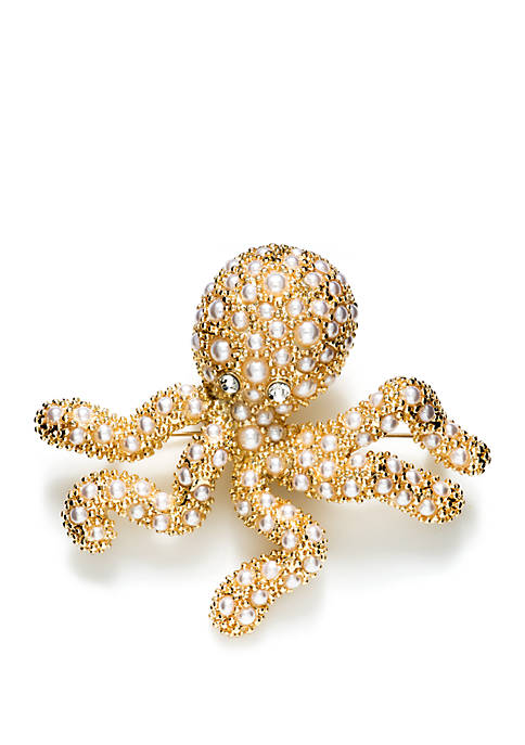 Napier Boxed Octopus Pin