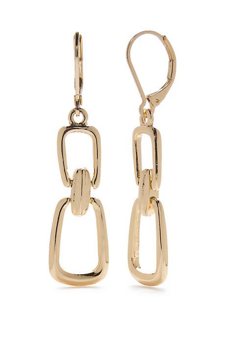 Double Drop Lever Back Earrings