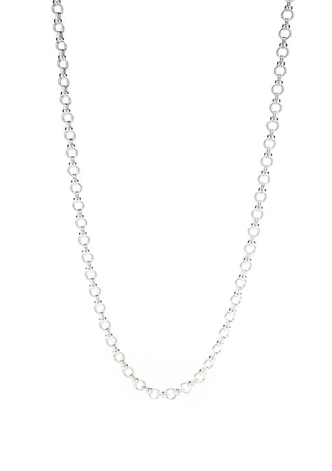 Silver Tone Link Strandage Necklace