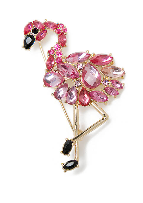 Boxed Fancy Flamingo Pin